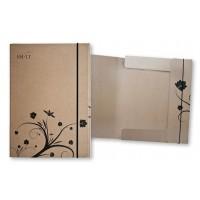 Папка-коробка для бумаги на резинке Smiltainis A4