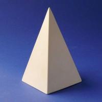 Гипсовая модель Пирамида 12х7см