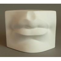 Гипсовая модель Губы Давида 16х12х9 см