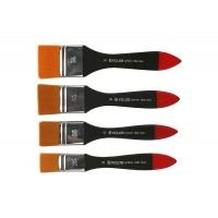 Кисть синтетика флейц Kolos Wide 8044 короткая ручка