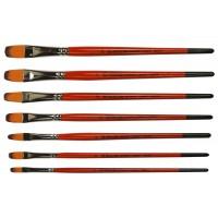 Кисть синтетика овальная Kolos Carrot 1097FR короткая ручка