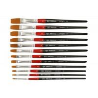 Кисть синтетика плоская Rosa Studio 101 короткая ручка