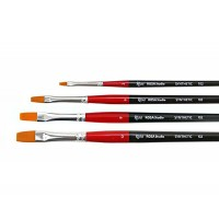 Кисть синтетика плоская Rosa Studio 102 длинная ручка