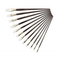 Кисть синтетика плоская Kolos Snow 1098F длинная ручка