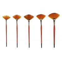 Кисть синтетика веерная Kolos Carrot 1097FN короткая ручка