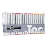 Набор двухсторонних маркеров Copic Sketch Set C 72 цвета