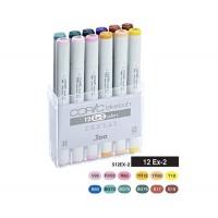 Набор двухсторонних маркеров Copic Sketch EХ-2 12 цветов