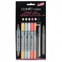 Набор двухсторонних маркеров Copic Ciao Set 5 + 1 цвет (пастельные тона)