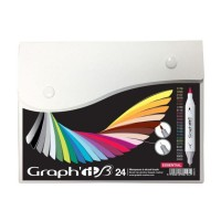 Набор двухсторонних маркеров китсочных Graph it Brushmarker Essential 24 цвета