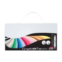 Набор двухсторонних маркеров китсочных Graph it Brushmarker Essential 36 цветов