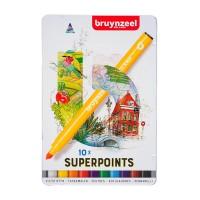 Набор фломастеров Bruynzeel Expression 10 цветов метал