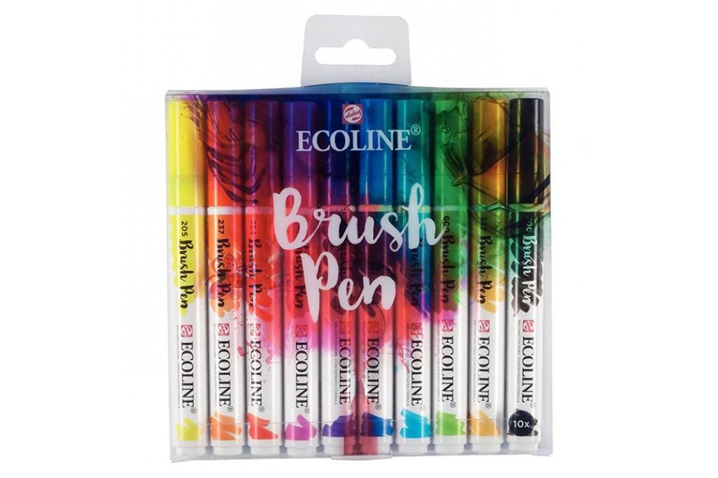 Набор акварельных маркеров Ecoline Brushpen 10 цветов