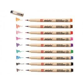 Лайнер кисть цветной Sakura Pigma Brush (9 цветов)