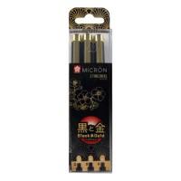 Набор лайнеров Sakura Pigma Micron Black & Gold 3 шт