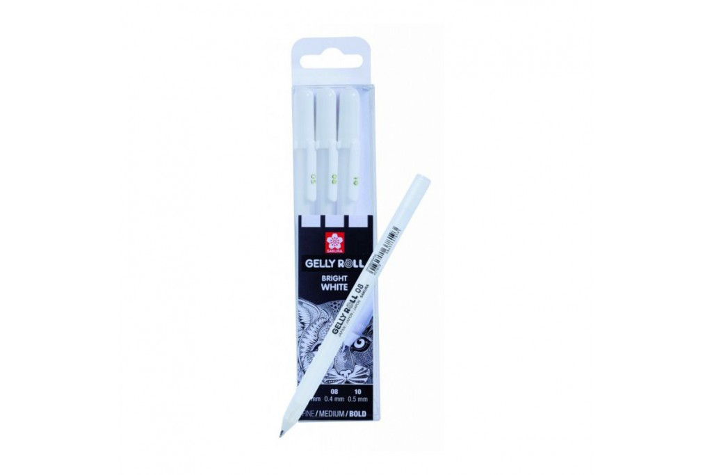 Набор гелевых ручек Sakura Gelly Roll 05-08-10 (0.3-0.4-0.5 мм) 3 шт Белая
