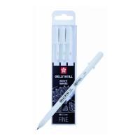 Набор гелевых ручек Sakura Basic 3 шт 0.5 мм Белая