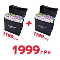 Комплект наборов маркеров двустороннихTouchFive 40 цветов 2 шт (touch40-ch-2)