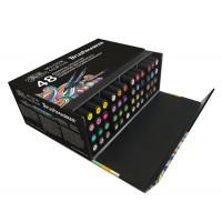 Набор двухсторонних маркеров Winsor Newton Brushmarker Essential 48 цетов + сумка-пенал