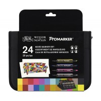 Набор маркеров, Mixed Marker Set, Promarker, 24 шт, сумка-пенал, Winsor Newton