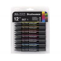 Набор маркеров, Brushmarker, Яркие, 12 шт, Winsor Newton