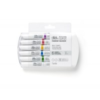 Набор двухсторонних маркеров пигментных Winsor Newton Pigment Насыщенные 6 цветов