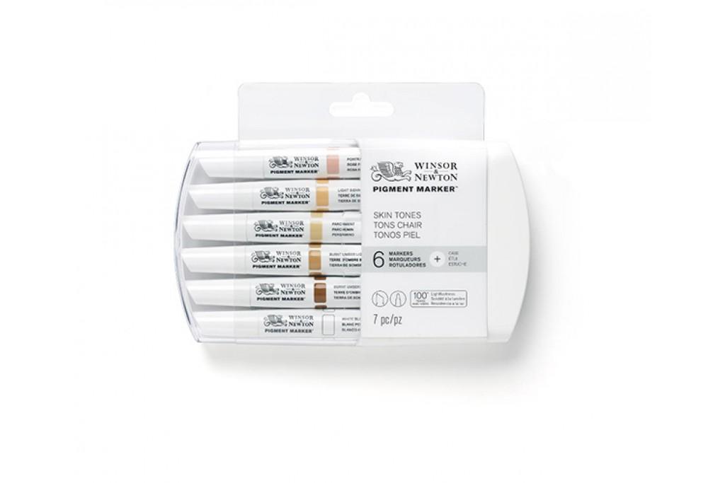 Набор двухсторонних маркеров пигментных Winsor Newton Pigment Телесные 6 цветов