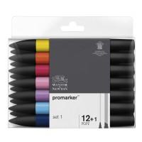 Набор двухсторонних маркеров Winsor Newton Promarker Set 1 12 цветов