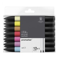Набор двухсторонних маркеров Winsor Newton Promarker Set 2 12 цветов