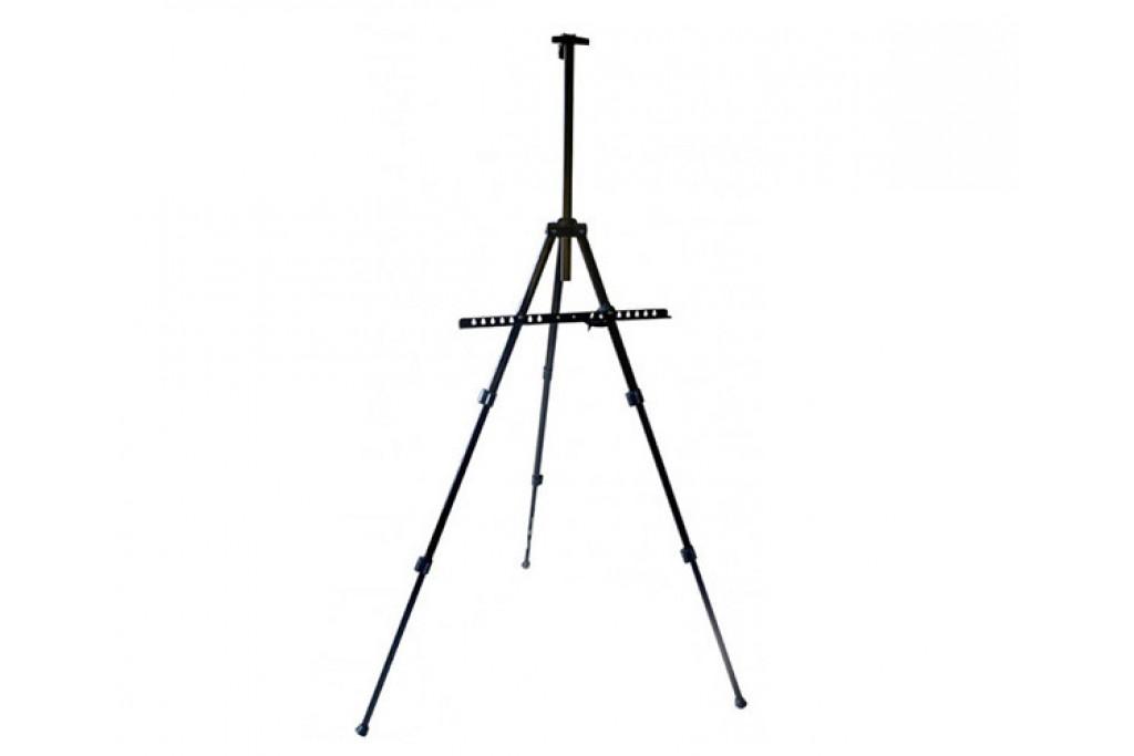 Мольберт-тренога алюминиевая с сумкой, черная, 110х85х157см, высота полотна 80 см