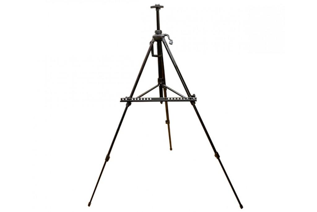 Мольберт-тренога алюминиевая с сумкой, черная, 138х85х158 см, высота полотна 83 см