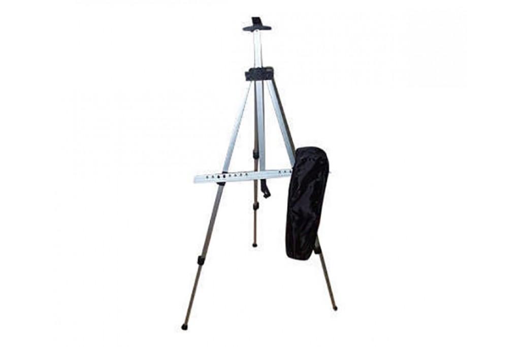 Мольберт-тренога алюминиевая с сумкой, черная, 125х85х157см, высота полотна 83 см