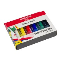 Набор акриловых красок Amsterdam Standart General Set 6цв.х20мл