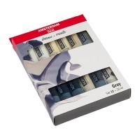 Набор акриловых красок Amsterdam Standart Greys 12цв.х20мл
