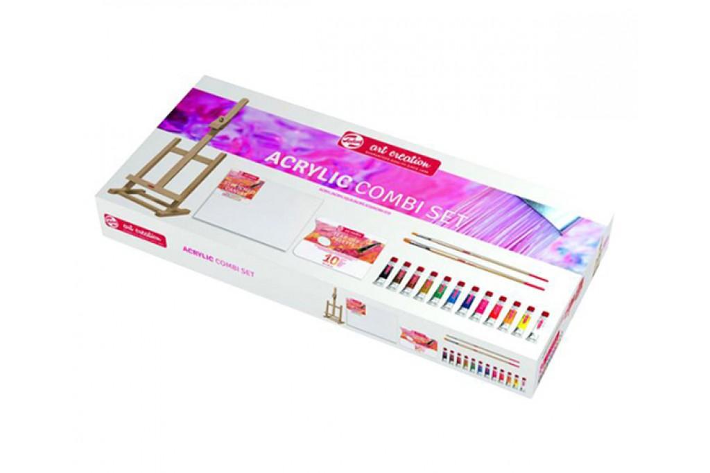 Набор акриловых матовых красок Royal Talens ArtCreation Combiset с мольбертом 12 цветов по 12 мл