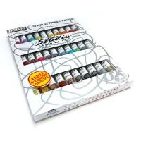 Набор красок акриловых Pebeo Studio 30цв.х20мл + кисть