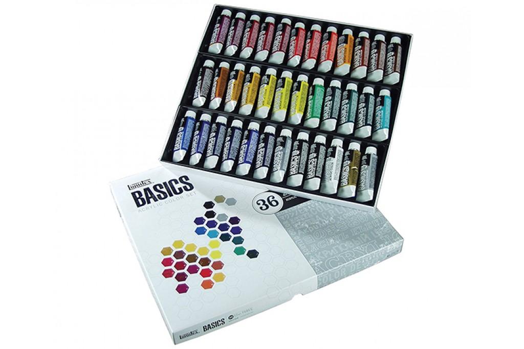Набор акриловых матовых красок Liquitex Acrylic Studio 36 цветов по 22 мл