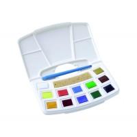 Набор акварельных красок, Pocket box, 12 кювет, кисть, спонж, Royal Talens
