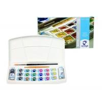Набор акварельных красок Van Gogh 18цв. + 2тубых10мл + кисть пластик