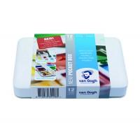 Набор акварельных красок Van Gogh Pocket box 12цв. кювета пластик