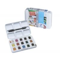 Набор акварельных красок Van Gogh Pocket box 12 + 3цв. пластик