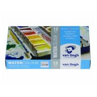 Набор акварельных красок Van Gogh 12цв. метал