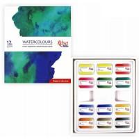 Набор акварельных красок Rosa Studio Watercolours 12цв. кювета картон