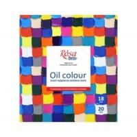 Набор масляных красок Rosa Studio 18 цветов по 20 мл