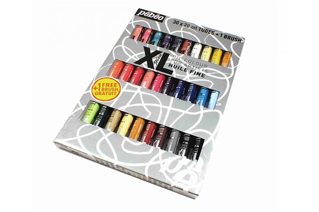 Набор масляных красок Pebeo XL 30 цветов по 20 мл + кисть
