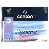 Альбом для акварели на пружине, А3 (32х41см), 270г/м.кв., 12л., Montval, Canson