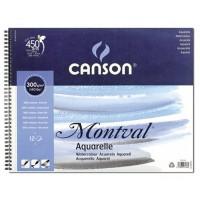 Альбом для акварели Canson Montval на пружине А4+ (24х32см) 300 г/м2 12л.