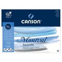 Склейка для акварели Canson Montval FIN А3+ (36х48см) 300 г/м2 12л.