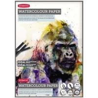 Склейка для акварели Derwent Watercolor белая гладкая A4 (29.7х21) 300 г/м2 12л.