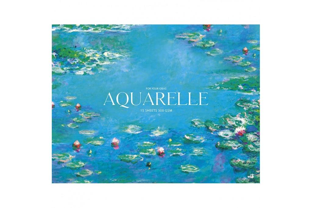 Альбом для акварели MUSE Aquarelle A5+ 300 г/м2 15 листов