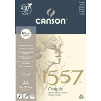 Склейка для графики Canson 1557 A4 (21х29.7см), 120 г/м2 50л.